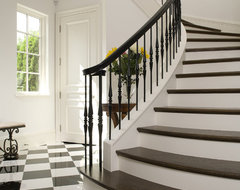 Curved Staircase mediterranean-staircase
