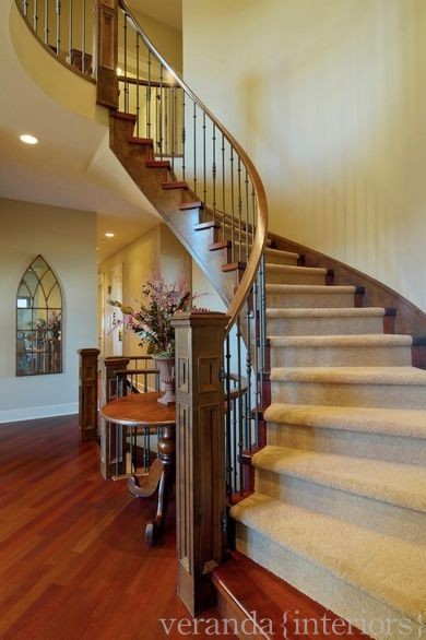 Curved staircase for Staircases types
