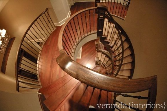 Curved Staircase traditional-staircase