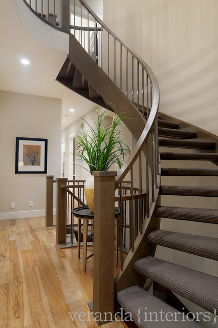Curved Staircases With Open Risers Contemporary