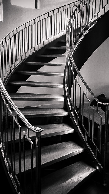 Curved Stairs Modern Staircase Atlanta By Southern