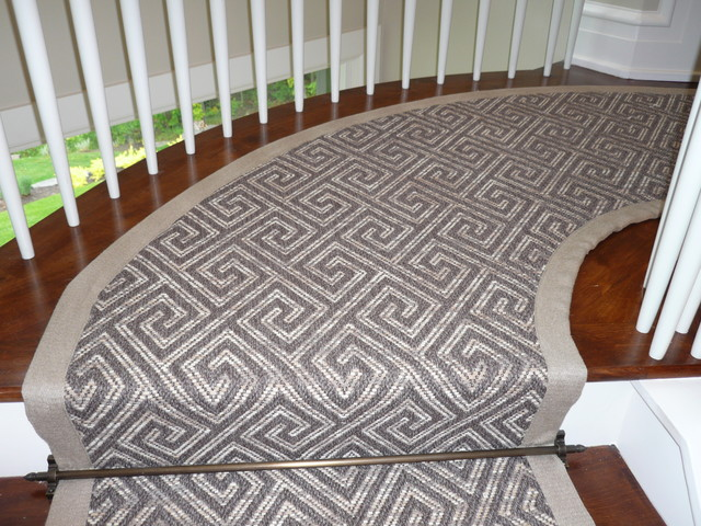 Awesome Curving Stair Runner Modern Staircase