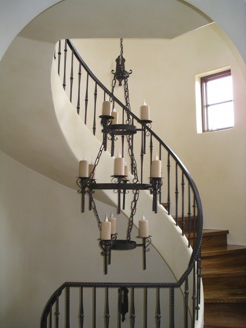 3 Tier Wrought Iron Chandelier Rustic