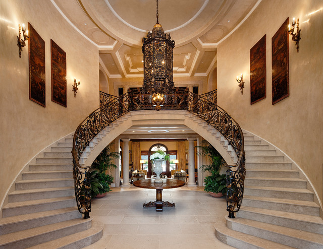 Beverly Foyer Mirror : Custom beverly hills estate traditional staircase