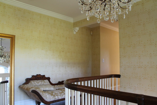 Houzz Foyer Paint : Custom decorative painting foyer landing loudonville