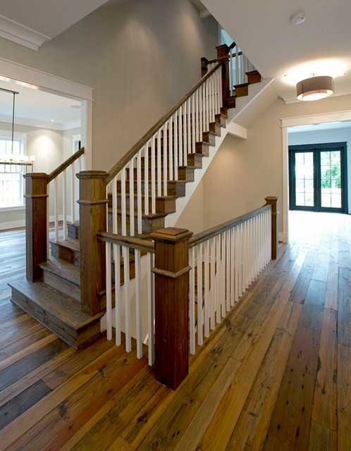 Custom home traditional staircase atlanta by for Huzz house
