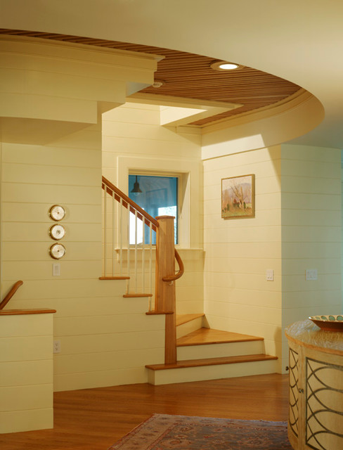 Custom Home by the Sea modern-staircase