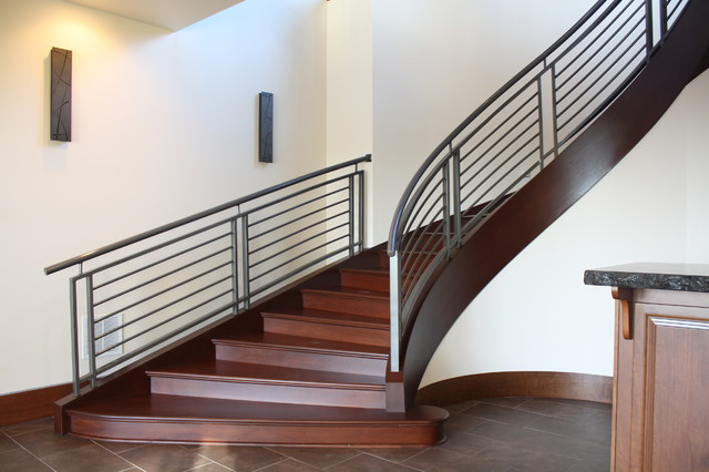 Custom Interior Iron Railing