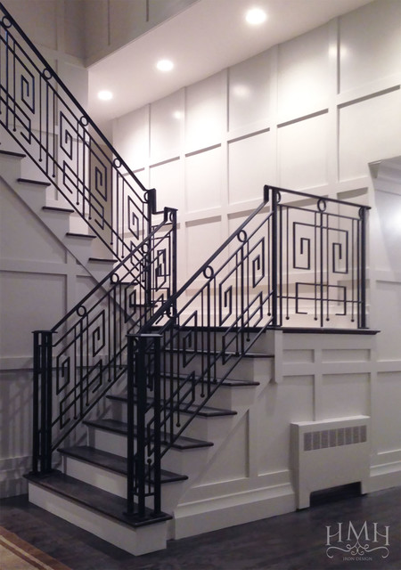 Custom Iron Railing Contemporary Staircase Other