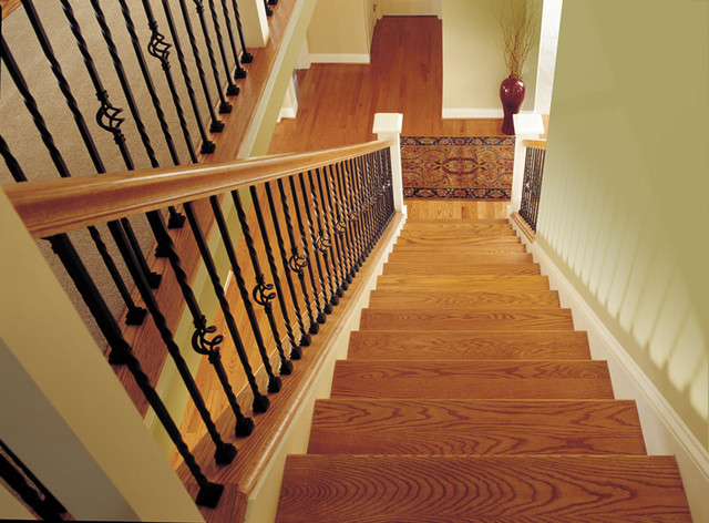 Lovely Custom Iron Stair Balusters Traditional Staircase