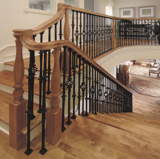 Amazing Custom Iron Stair Balusters Traditional Staircase