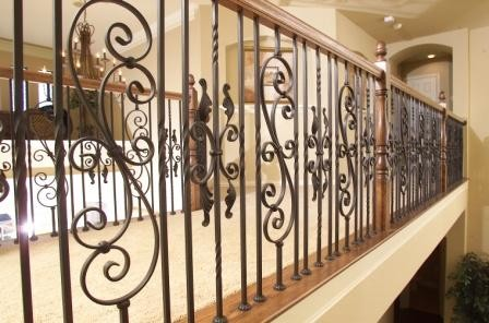 Custom Iron Stair Balusters American Traditional Staircase