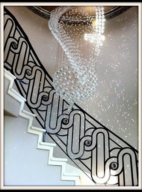 Merveilleux Custom Iron Stair Railing Modern Staircase