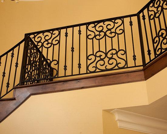 Fabricated iron staircase home design photos