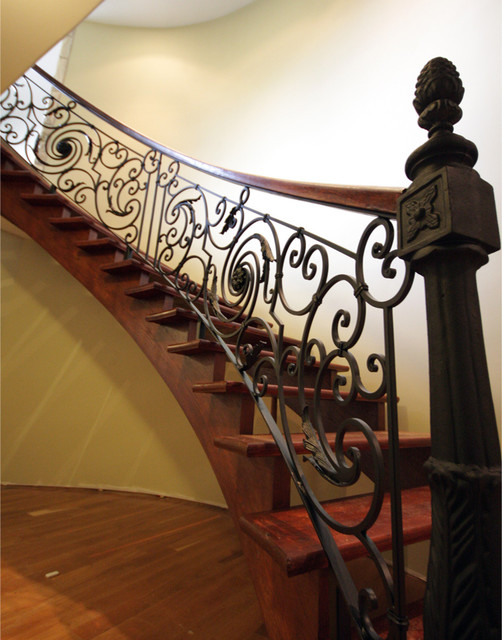 custom iron work  staircase