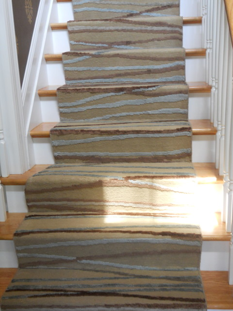 Custom Modern Stair Runners Traditional Staircase