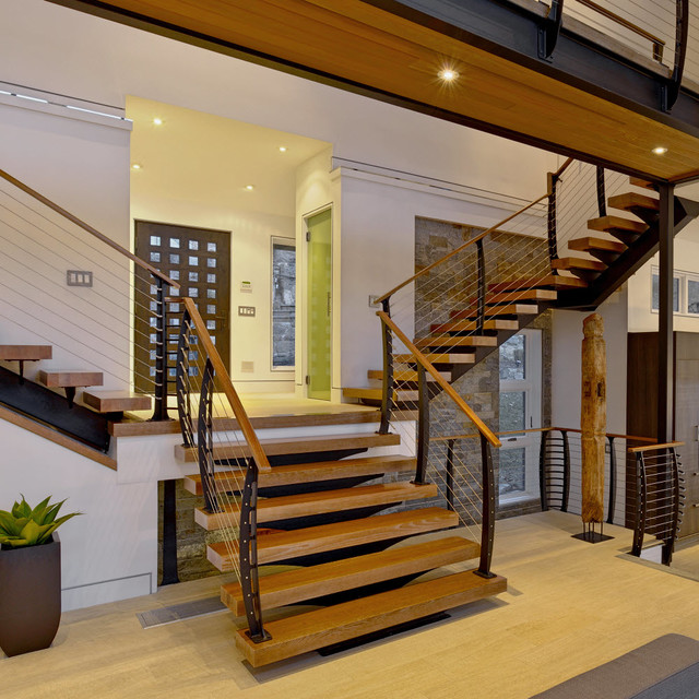 Custom modern steel stairs modern staircase new york for Custom staircase design