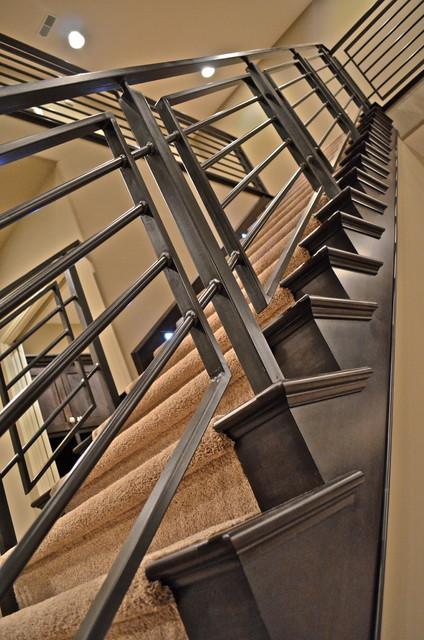 Custom Rail contemporary-staircase