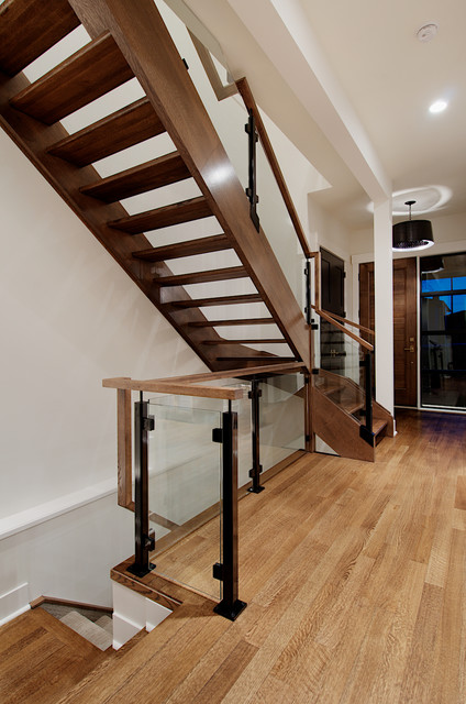 Custom railing in modern inner-city home contemporary-staircase