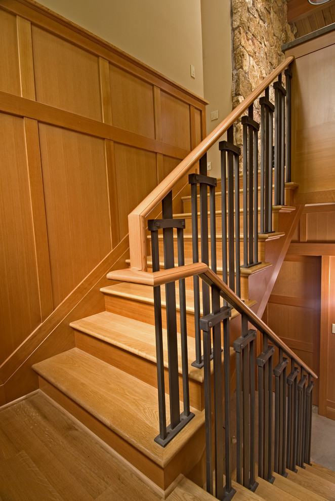 Custom Railing Craftsman Staircase Seattle by