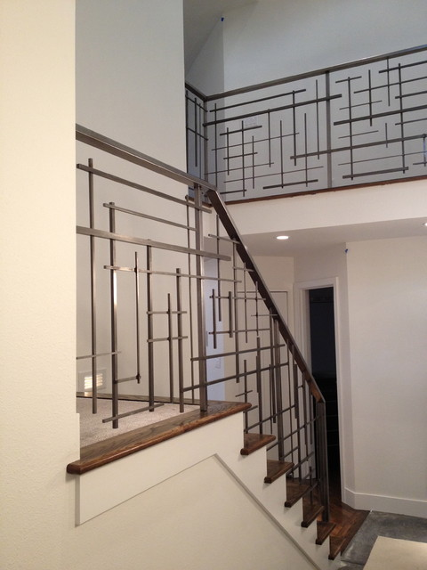 Custom Railing Contemporary Staircase Seattle By