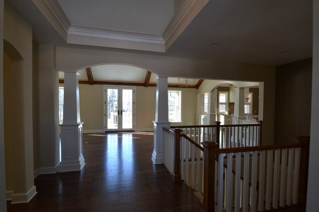 Custom ranch cottgage style in westfield 80 Ranch style staircase