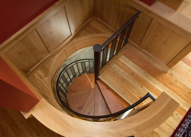 Custom spiral stair eclectic staircase portland by for Custom stair
