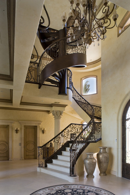 Custom spiral staircase traditional staircase las for Custom staircase design