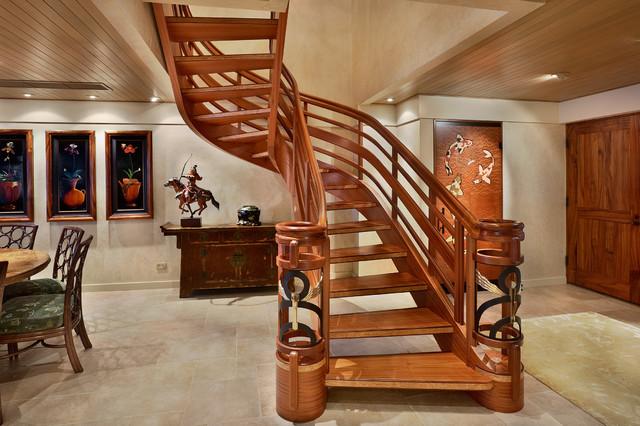 Attirant Custom Stair Tropical Staircase