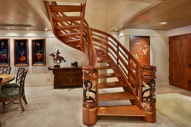Custom Stair Tropical Staircase Other Metro By