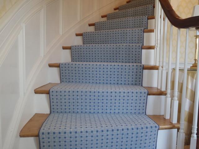 Custom Stair Runner Needham, MA contemporary-staircase