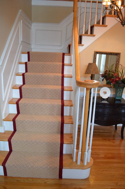 Custom Stair Runner With 3 Quot Binding Dover Ma