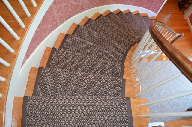Carpet Binding Table ~ Custom stair runner with quot binding traditional