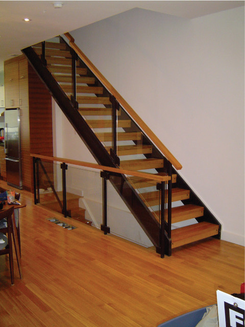 custom staircase and glass railing modern staircase toronto. Black Bedroom Furniture Sets. Home Design Ideas