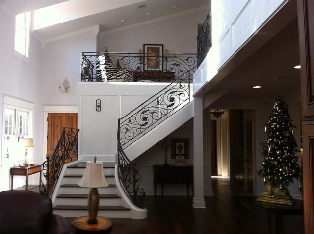 Custom staircase and railing. traditional staircase
