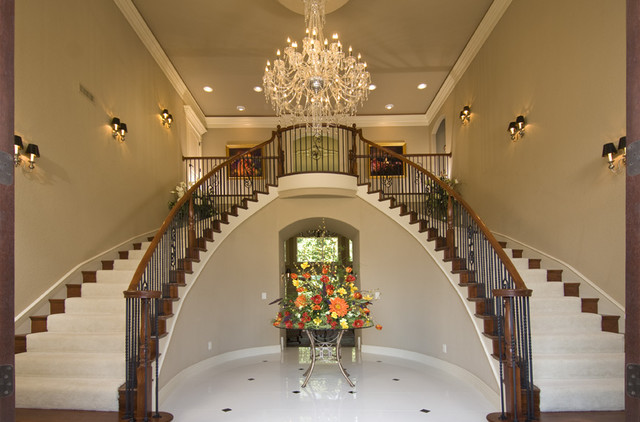 Custom staircase traditional staircase little rock for Little rock custom home builders