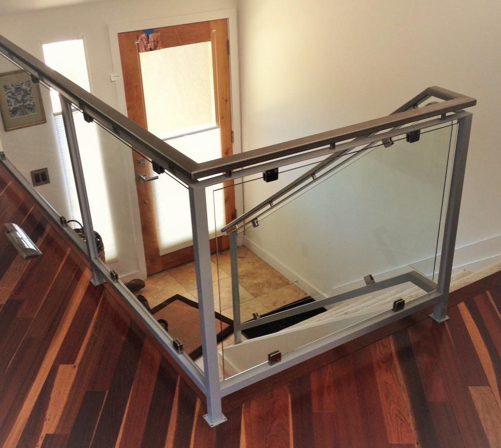 Custom Steel and Glass Stair Railing - Modern - Staircase ...
