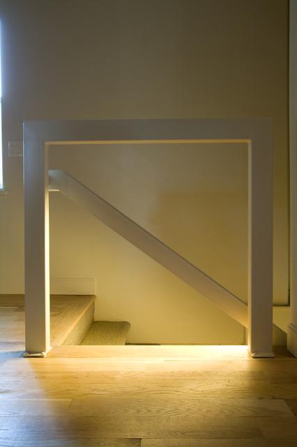 Custom Steel Stair Rail modern-staircase