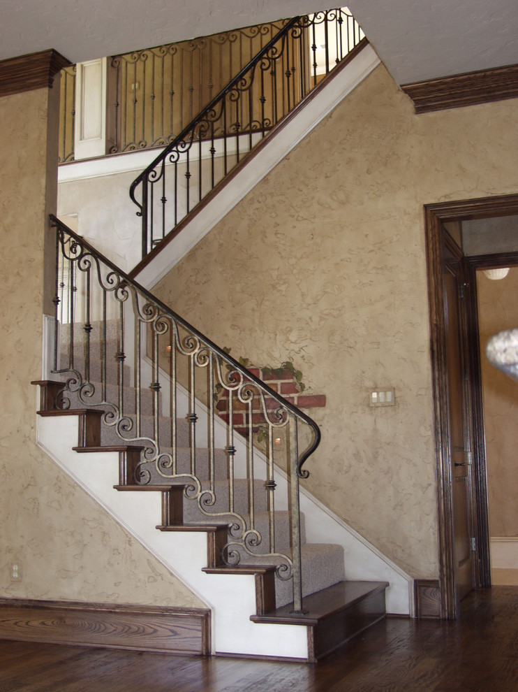 traditional staircase parts wrought iron custom houston stair cheap