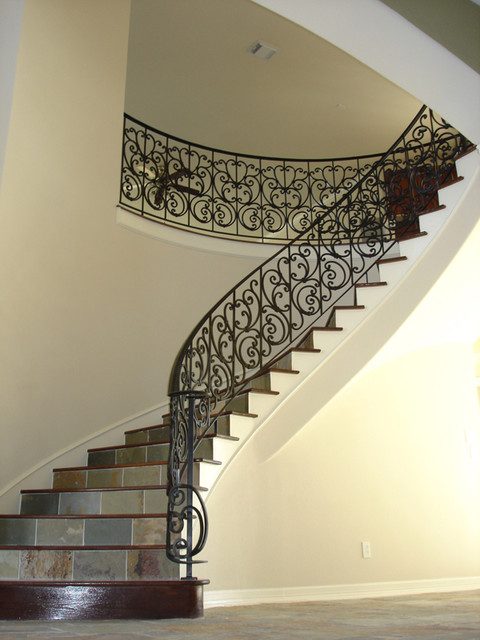 Custom Wrought Iron Traditional Staircase Houston By Cheap Stair Parts