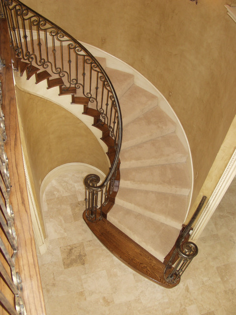 Custom Wrought Iron traditional-staircase