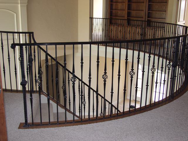 Custom Wrought Iron Traditional Staircase