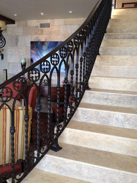 Dana Point, CA mediterranean-staircase