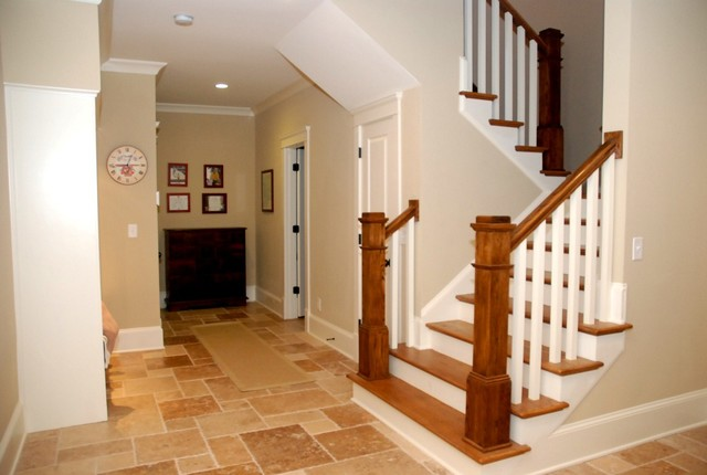 Darlington Basement Stairs traditional-staircase