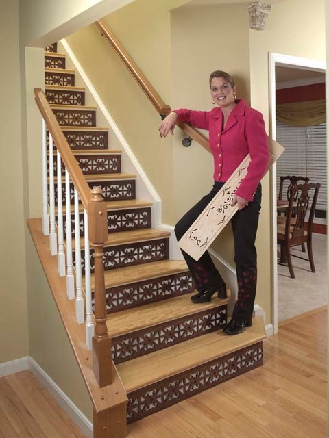 Charmant Decorative Stair Risers Traditional Staircase
