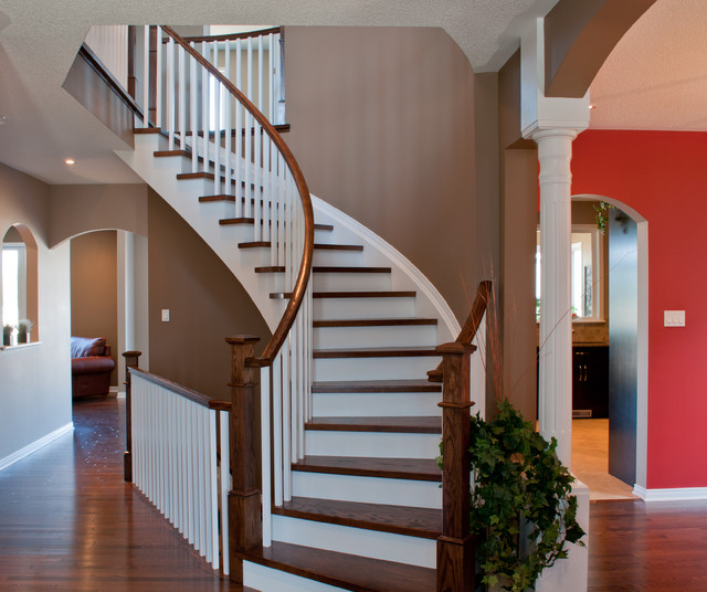 Deer run model home traditional staircase other for Metric homes