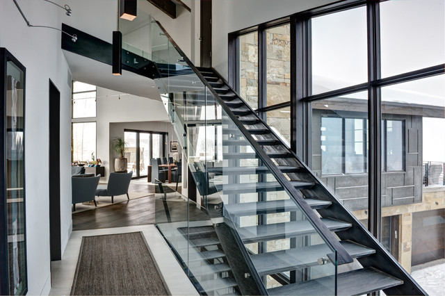 Deer Valley contemporary-staircase