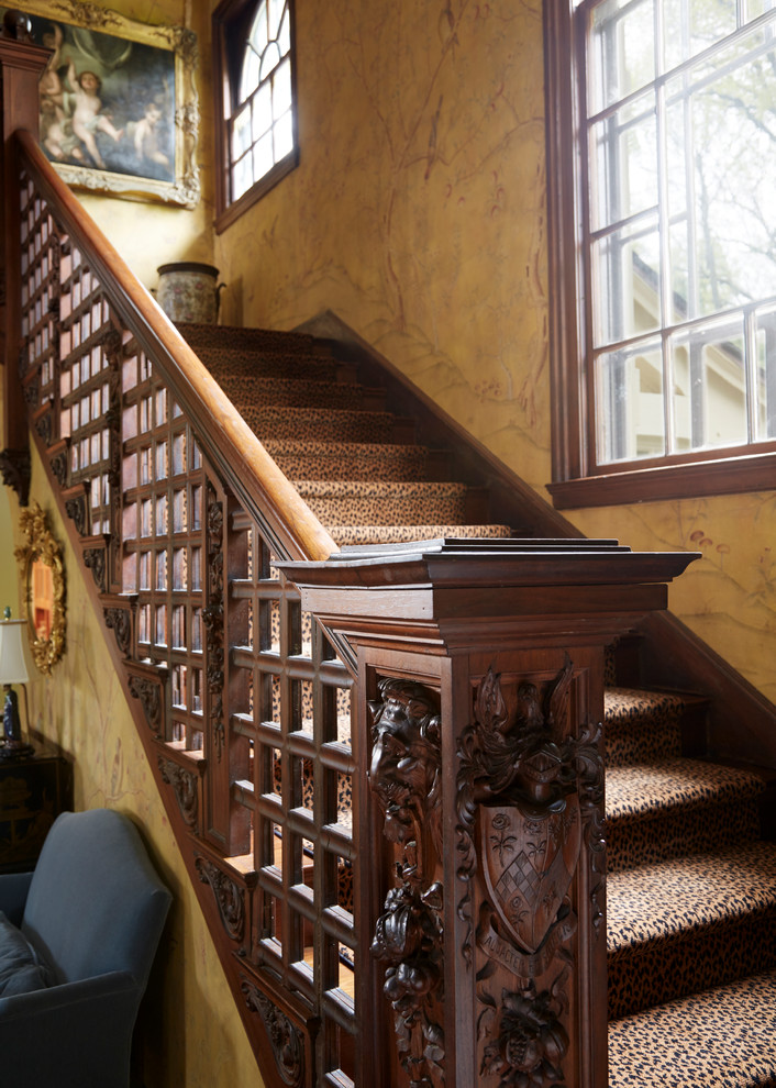 Inspiration for a victorian staircase remodel in New York