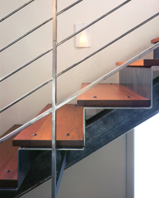Delancey Street Townhouse contemporary-staircase