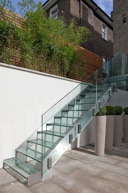 Design Elements In the Garden contemporary-staircase